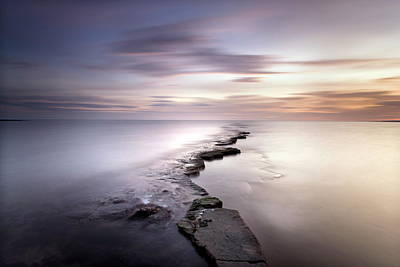 Photograph - Kimmeridge Bay At Dusk Showing Wave-cut by Lee Frost / Robertharding