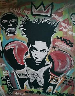 Painting - King Basquiat by Antonio Moore