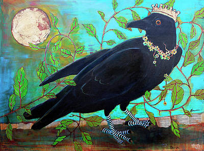 King Crow Art Print by Blenda Studio