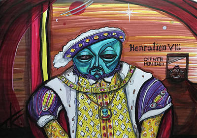 Drawing - King Henralien Viii by Similar Alien