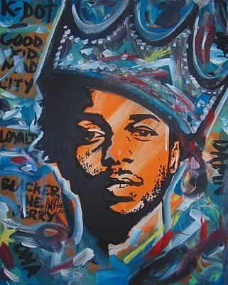 Painting - King Lamar by Antonio Moore