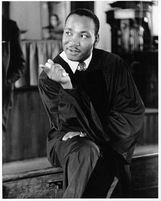 Martin Luther King Wall Art - Photograph - King Sermon by Michael Ochs Archives