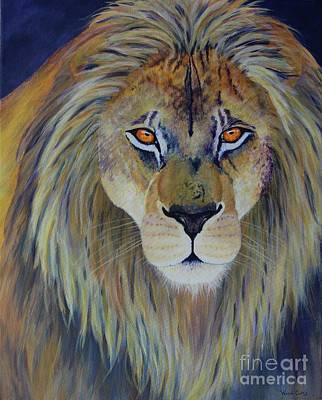 Lion Of Judah Painting - Kingdom by Wendi Curtis