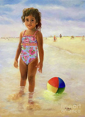 Painting - Kira At The Beach  by Marlene Book