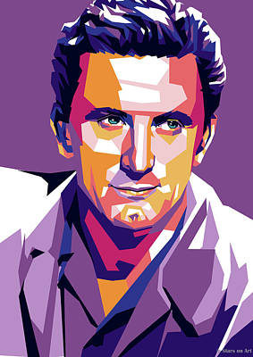 Colorful Fish Xrays - Kirk Douglas illustration by Stars on Art