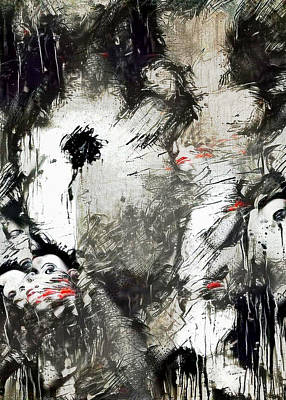 Surrealism Digital Art - Kiss of Darkness by Bruce Rolff