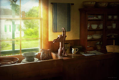 Photograph - Kitchen - Country - A Rural Kitchen by Mike Savad