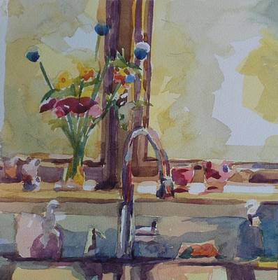 Painting - Kitchen Sink  by Jo Mackenzie