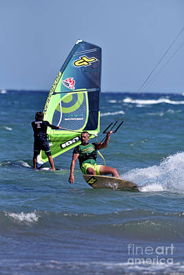 Photograph - Kite Surfing And Windsurfing On A Windy Day II by George Atsametakis