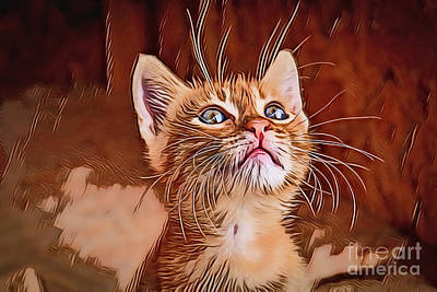 Painting - Kitten A18-78 by Ray Shrewsberry