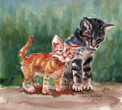 Painting - Kittens by Mimi Boothby