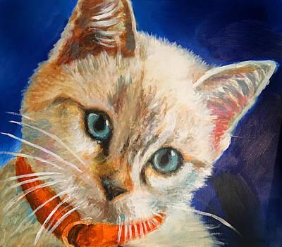 Painting - Kitty Kat by Robert Korhonen