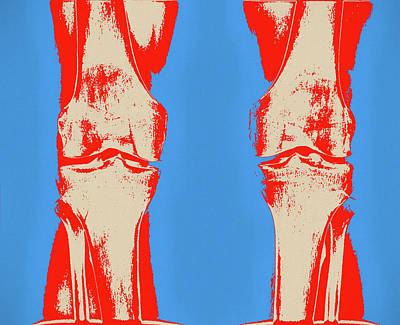 Painting - Knees Pop Art by Dan Sproul