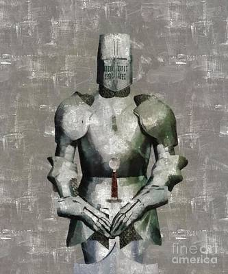 Fantasy Royalty-Free and Rights-Managed Images - Knight Guardian by Sarah Kirk