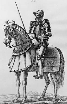 Knight In Armour Art Print by Hulton Archive
