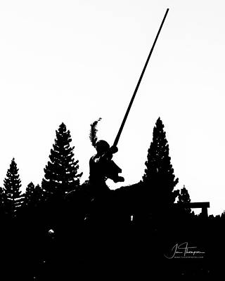 Photograph - Knight Silhouette by Jim Thompson