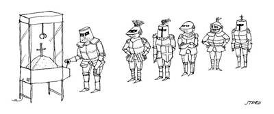 Drawing - Knights Line Up by Edward Steed