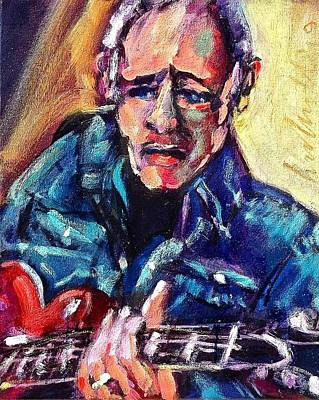 Painting - Knopfler by Les Leffingwell