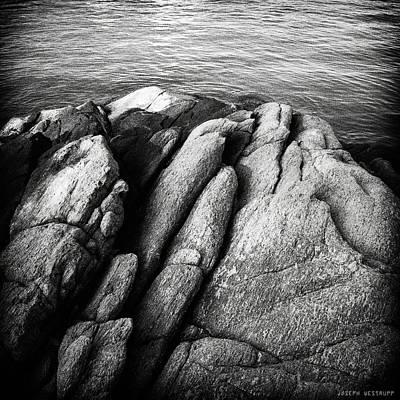 Ko Samet Rocks In Black Art Print