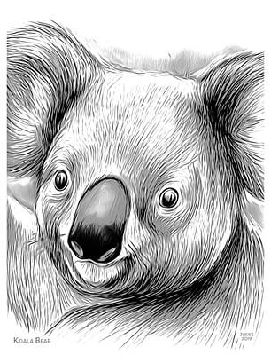 Crazy Cartoon Creatures - Koala Bear Mixed Media by Greg Joens