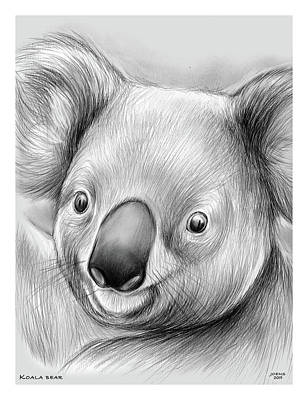 Animals Drawings - Koala by Greg Joens