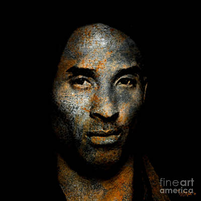 Digital Art - Kobe Bean Bryant by Walter Neal