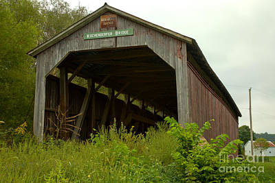 Photograph - Kochenderfer Covered Bridge by Adam Jewell