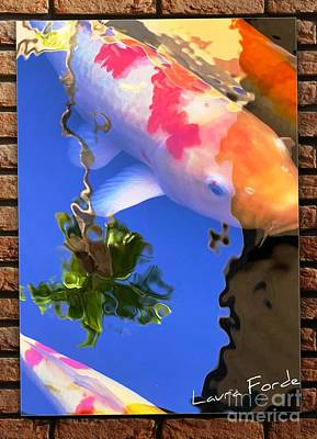 Photograph - Koi And Coconut Tree by Laura Forde