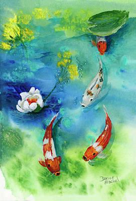 Painting - Koi Chase by Darice Machel McGuire