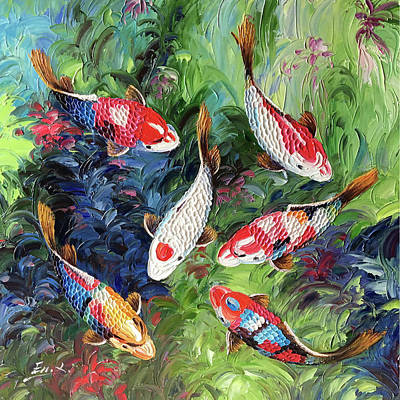 All You Need Is Love - Koi Fish by Enxu Zhou