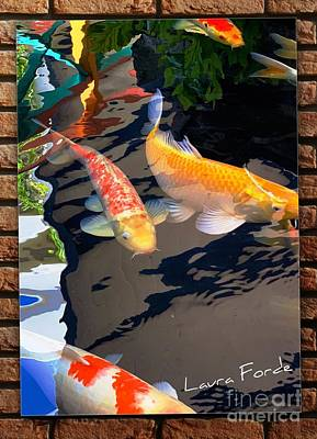 Photograph - Koi Fishes by Laura Forde
