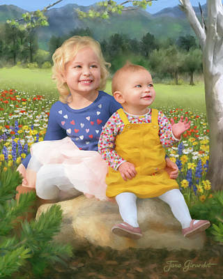 Painting - Kolegraf Portrait by Jane Girardot