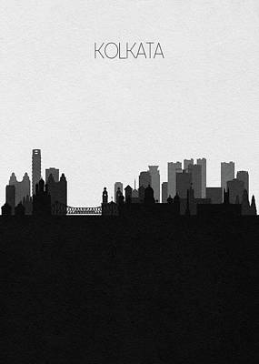 Digital Art - Kolkata Cityscape Art by Inspirowl Design