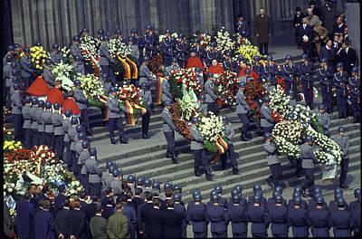 Photograph - Konrad Adenauer Death by Loomis Dean