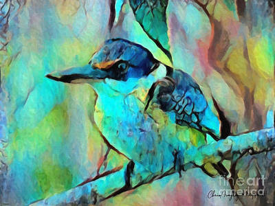 Painting - Kookaburra Blues by Chris Armytage