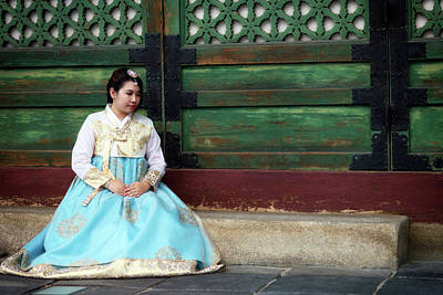 Photograph - Korean Girl In Hanbok by Rick Berk