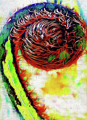 Digital Art - Koru Love by Locky Monsoon