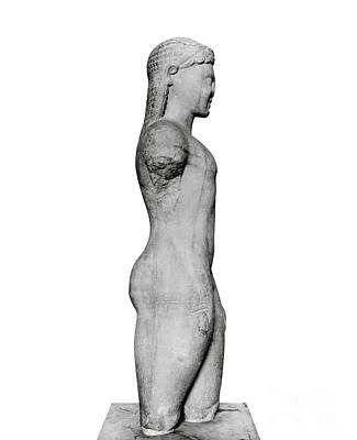 Sculpture - Kouros, From Paros, Near The Sanctuary Of Asklepios by Greek School