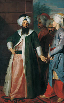 Painting - Kozbekci Mustafa Aga And His Retinue by Georg Engelhard Schroder
