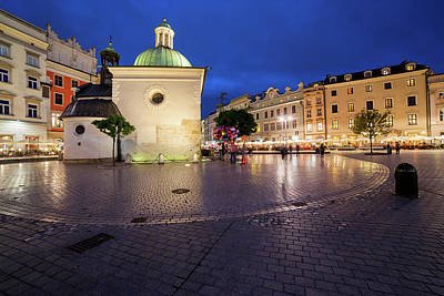 Photograph - Krakow Old Town Main Square At Night by Artur Bogacki