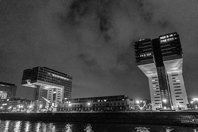 Photograph - Kranhauser At Night, Cologne Germany by Mary Lee Dereske
