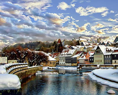 Photograph - Kronach Winter Scene by Anthony Dezenzio