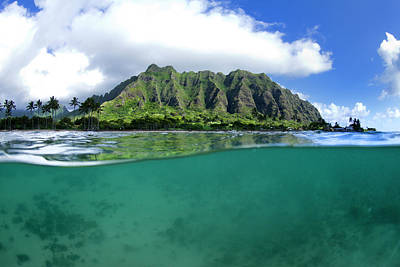 Photograph - Kualoa Split by Sean Davey