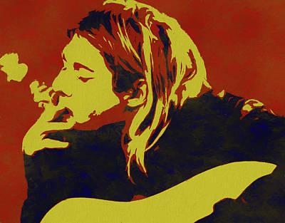 Music Paintings - Kurt Cobain Pop Art by Dan Sproul