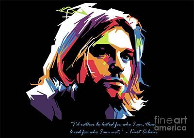 Kurt Cobain Popart Original