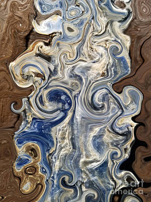 Digital Art - Kyanite And Wood Alchemy  by Rachel Hannah