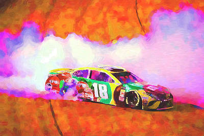 Mixed Media Rights Managed Images - Kyle Busch Royalty-Free Image by David Ridley
