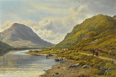 Painting - Kylemore Lake, Connemara by Bartholomew Colles Watkins