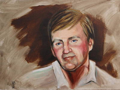 Painting - Kyle's Dad by Kirsten Beitler