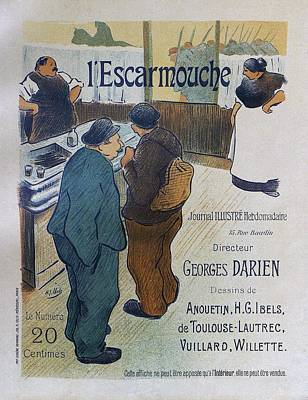Painting - L Escarmouche, 1893 French Vintage Poster by Henri Gabriel Ibells